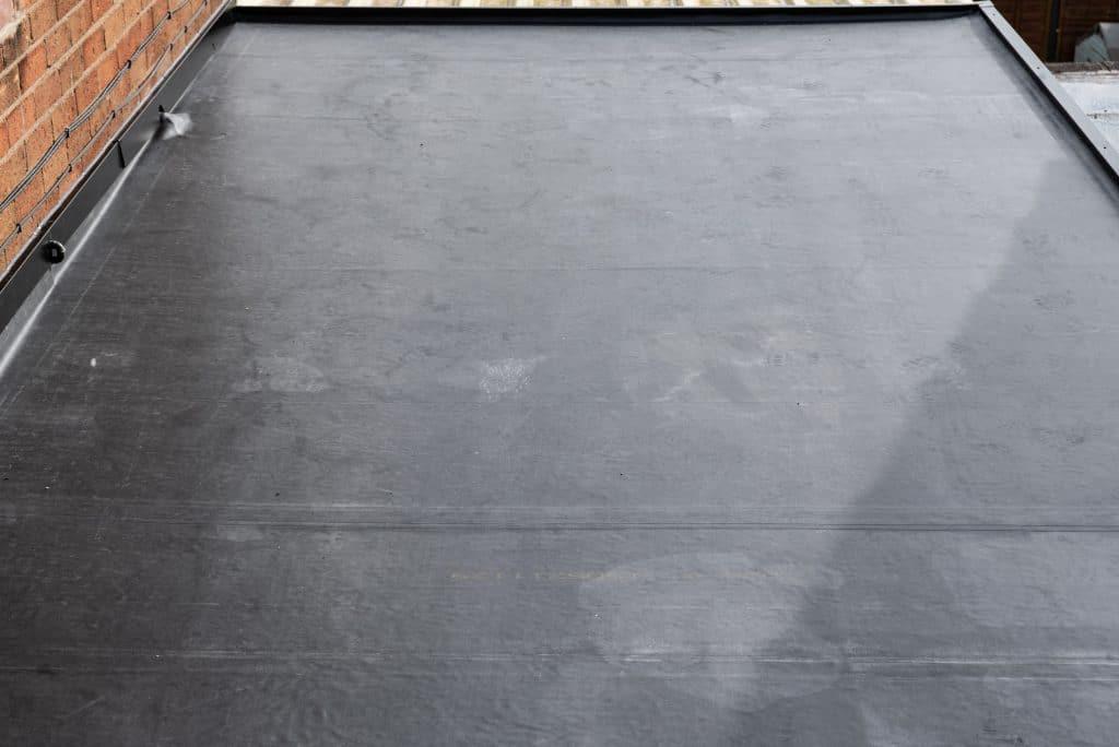 refurbished black felt flat roof