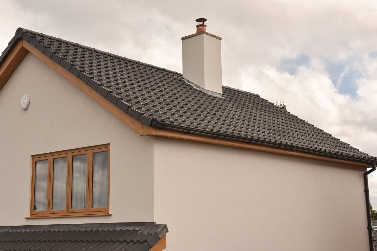 housing roof and guttering renovation project