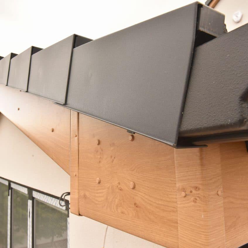 wooden finish fascia board fitting